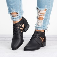 Criss Cross Ankle Booties