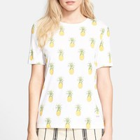 Women's Tory Burch 'Cathy' Pineapple Print Tee,