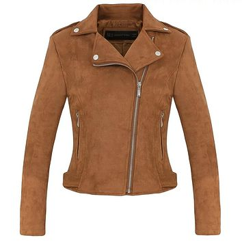 Suede Motorcycle Jacket 4 Colors