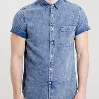 Blue Grunge Denim Shirt