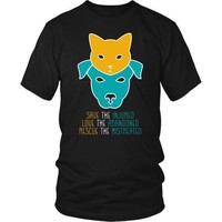 Vet Tech T Shirt - Save the Injured, Love the abandoned, Rescue the mistreated