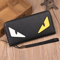 Luxury Monster Bags Designer Long Wallets Famous Brand Women Leather Wallet Design Purse Ladies Clutches Handbags Carteras Mujer
