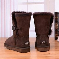 Tagre™ UGG Women Fashion Fur Winter Leather Boots in Tube Shoes