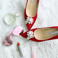 SheLEN GEMS FLOWER PUMPS (4 colors)