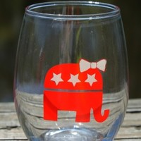 Republican Stemless Wine Glass (9 OZ)