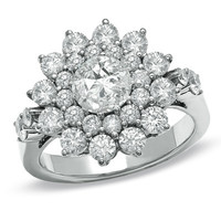 2-1/2 CT. T.W. White Diamond Fashion Ring in 14K White Gold - View All Rings - Zales
