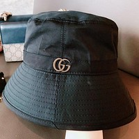 GUCCI New Fashion Women Men Sun Protection Leisure Cap Hat Black