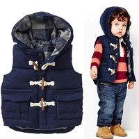 1 PCS/Lot New Fashion Children Winter Outwear Cotton Boys Vest Coats Casual Kids Baby Clothes = 1930469060