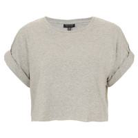 Roll Back Crop Tee - Topshop