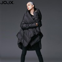 JOJX Women's Winter Jacket 2017 New Temperament irregular Loose parka women down winter coat Warm Jacket Female Outerwear