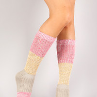 Creamy Climb Knee High Socks