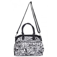 Banned B&W Skull and Roses Bag