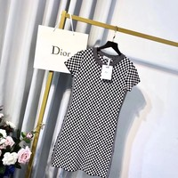 Dior Fashion Women Show Body Sleeveless Vest Type Dress