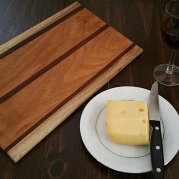 Native American/Veteran handcrafted Stunning Old Growth Historical Oak Cutting Board with Jatoba accents.