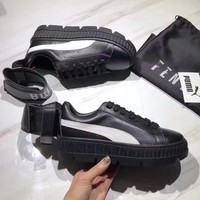 PUMA Fenty Creeper Women Casual Running Sport Shoes Sneakers Black+White G-A-YYMY-XY