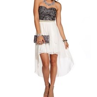 Promo-Bellie Charcoal Homecoming Dress