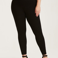 Slim Fix Pixie Pant - Black All-Nighter Ponte