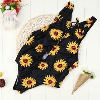 Sunflower Lattice One Piece