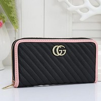 Women Fashion Leather Zipper Purse Wallet