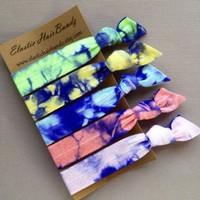 The Pastel Violet Hair Tie Ponytail Holder Collection by Elastic Hair Bandz