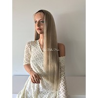 Rooted Natural Ash Blond  Human Hair Multi Parting Lace Front Wig - Ryd