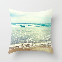 Oh, the sea, the sea... Throw Pillow by Lisa Argyropoulos