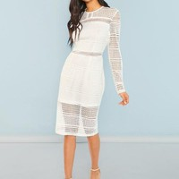 Natalie Laced White Dress