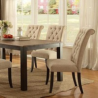 Marshall Transitional Style Dining Table, Rustic Oak Finish By Casagear Home