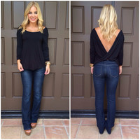 With a Twist Top - BLACK