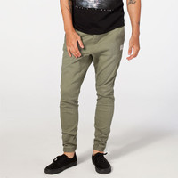 Rusty Hook Out Mens Jogger Pants Olive  In Sizes