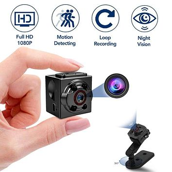 Hidden Mini Spy Camera, 1080P Full HD Nanny Cam, Night Vision & Motion Activation for Indoor Outdoor Portable Secret Surveillance Covert Security Small Cameras