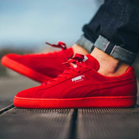PUMA Trending Fashion Casual Sports Shoes Red
