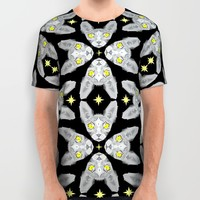 Sphynx Cat Black Pattern All Over Print Shirt by Chobopop