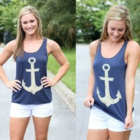 Anchor Tank - Navy