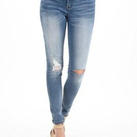 DCCKGE8 Kan Can Light Wash Maternity Jeans