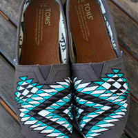 Custom Hand Painted Tribal Patterned Toms