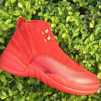 AIR JORDAN 12 (RED OCTOBER - SUEDE) BASKETBALL SNEAKER I
