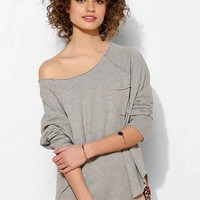 Project Social T Double Layer Slouch Pullover Sweatshirt - Light Grey M