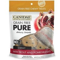 Canidae Pure Trout/Pomegrante Chewy Dog Treats 6oz