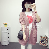 Millet may College Wind knit cardigan pocket cannabis