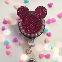 Mickey mouse ID badge Reel by MiniSweetAccessories on Etsy
