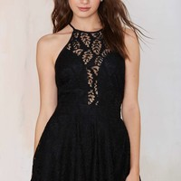 So Vain Lace Romper