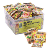Haribo Gold-Bears Mini Gummi Bears 1/2-Ounce Packs: 72-Piece Tub