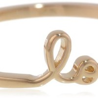"""Shy by SE """"Love"""" Ring with Diamond Bezel"""
