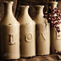 Country Photography, Still Life, Country Decor - Brown, Sepia, Love - Rustic, Shabby Chic