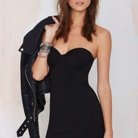 Nasty Gal Heartless Knit Dress - Black