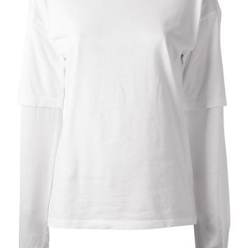 Filles A Papa 'Mady' t-shirt with contrast sleeves