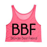 Blonde Best Friend BBF Tank Top Crop