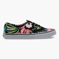 Vans Hawaiian Floral Authentic Womens Shoes Black  In Sizes