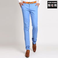 Great Quality Cotton Straight Men Pants Chino Pants Slim Men Trousers Casual Pencil pants